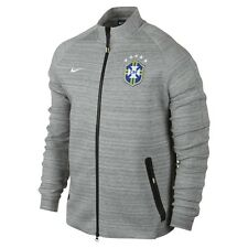 Nike Brazil N98 Gray National Soccer Team Tech Track Jacket 2014 #626739 Sz XL