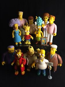 The Simpsons World Of Springfield Playmates Toys Lot Figures Vintage Rare Set