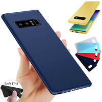 Samsung Galaxy S10/S9 Plus Note 8 Ultra Thin Soft TPU Gel Rubber Case Cover Skin