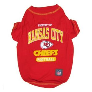 KANSAS CITY CHIEFS Officially Licensed NFL Dog Pet Tee Shirt, Red Sizes XS-XL