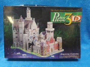 3D puzzle CASTLE Dorm  Alpine 1000 PIECE MB MILTON BRADLEY NIP