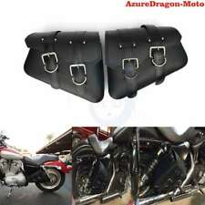 New PU Leather Saddle Bag Luggage Bag For Harley Sportster XL 883 Sportster 1200