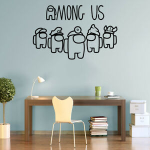 Among Us Gaming Vinyl Wall Stickers Decals Crewmate, Imposter, Sabotage Gamers