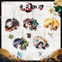 US! Anime Demon Slayer:Kimetsu no Yaiba Character Acrylic Pendant Key Chain Gift
