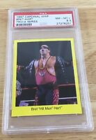 Bret Hit Man Hart 1997 Cardinal Wwf Card Psa 8.5 Wwe low pop