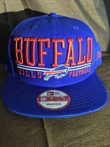 Buffalo Bills Snapback Lateral Snap Hat 9Fifty New Era NFL Cap Mens OSFA