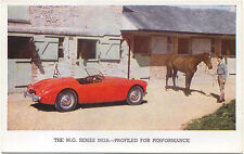 MG MGA Original Factory issued Postcard red car not dated