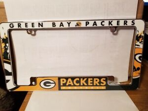 NFL Green Bay Packers All Over Chrome License Plate Frame