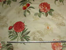 'Heligan' Swaffer Floralis Legacy 100% Cotton Floral Furnishing Fabric, 3.5 mts