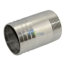 "Stainless Steel 1 1/2"" Male Thread Pipe Fitting x 45MM OD Barb Hose Tail SS304"