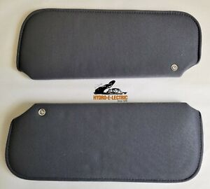 NEW 1978-1988 Oldsmobile Cutlass Gray Sun Visors - PAIR- Calais, Supreme, Salon