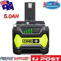 18V 5.0Ah Battery for Ryobi One+ RB18L25 RB18L50 P108 P107 P104 P780 P108 P102