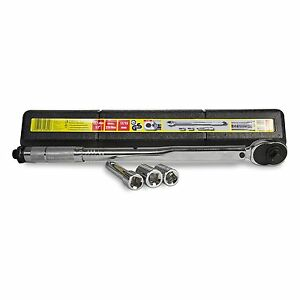 Unitec 20809 - Chiave dinamometrica con adattatori, Per bulloni da 42 a 210 Nm