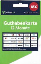 freenet TV Guthabenkarte Guthaben / Gutschein für 12 Monate