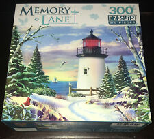 MEMORY LANE 300 PIECE EZ-GRIP JIGSAW PUZZLE SAILING ON ALAN GIANA Art Lighthouse