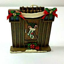 Ceramic Christmas Ornament Gate Door Stockings Home Sentiment 1999 Roman Inc.