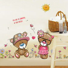 Lovely Bear Wall Sticker Decal for Nursery Girls Bedroom Classroom