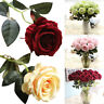 Artificial Fake Roses Flannel Flower Bridal Bouquet Wedding Party Home Decor CA