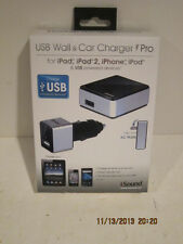 iSOUND-2145 Wall & Car Charger Pro iphone ipad /pod USB Powered Devices-FRE SHP