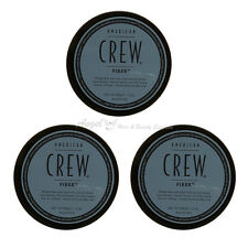 AMERICAN CREW FIBER. TEXTURE, MATT FINISH. STRONG HOLD. LARGE 85G WAX x 3