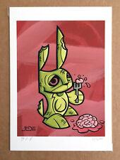 Joe Ledbetter Signed 5x7 Mutant Bunny Zombie Giclee Print Aritist Proof LE 6/16