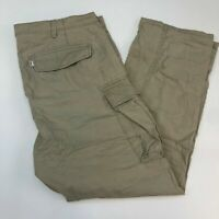 Levi's Cargo Pants Mens 40X32 Tan Straight Leg Regular Fit Cotton Zip Closure