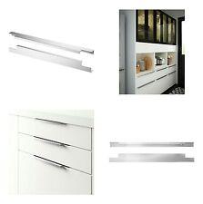 """IKEA BLANKETT 15"""" Cabinet Drawer Handles Aluminium 2 Pack 102.262.11 NEW"""
