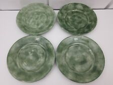 """Eddie Bauer Home Dinner Plates Set of 4 Green 11"""" Dishes China"""