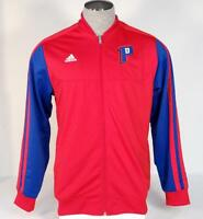Adidas Performance Red Detroit Pistons NBA Zip Front Track Jacket Men's NWT