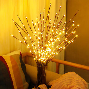 20 LED Branch Lights Twig Willow Light Up Fairy String Lamp Party Decor Battery