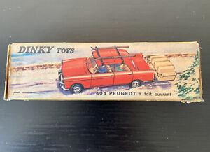 Dinky Toys 536 Peugeot 504 Toit Ouvrant boîte d'origine