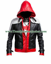 Batman arkham knight game red hood real leather jacket costume(Vest not included