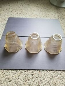 Ceiling Fan Globe Light Shade Vanity Replacement Lot of 3