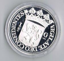 1 ounce ZILVEREN 1 gulden 1680 REPLICA  .925 zilver PROOF capsule + certificaat