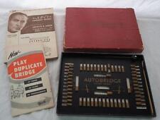 Vintage Autobridge Pocket Model Bridge Game