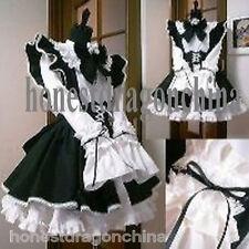 Gothic Lolita Cosplay Kostüme Kleid weiß Maßanfertigung Punk Maid Tailor Made