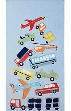"""Pottery Barn Kids Transportation Mini Beach Towel """"Brody"""" New With Tags"""
