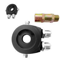 Aluminum Oil Filter Sandwich Plate Adapter 1/8NPT 10AN Oil Cooler Kit M20 x 1.5