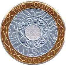UNITED KINGDOM 2 POUND COIN SILVER PLATE GOLD 1998