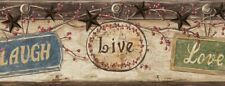 Live Love Laugh Border Ctr63151B wallpaper country stars Easy-Walls prepasted