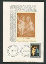 VATICAN MK 1971 GEMÄLDE MADONNA JESUS ART MAXIMUMKARTE MAXIMUM CARD MC CM d1379