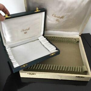 2 Ecrins Vides CHRISTOFLE pour Ménagère Argenterie Jewel Box