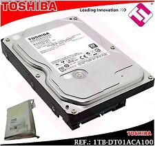 DISCO DURO TOSHIBA 1TB 3.5 SERIALE ATA 3 INTERNO 7200 RPM DT01ACA100 1000GB 1 TB
