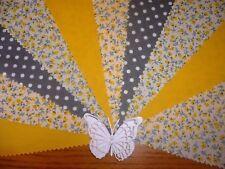 Fabric Bunting Yellow Grey Wedding Celebration Party Decor 3m - Capri