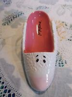 Hallmark Maxine Wine Bottle Holder - Pink Ceramic Bunny Slipper