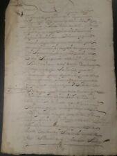 España 1686 increíble manuscrito trueque Escritura. Original. rara marca de agua