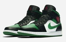 NIKE MEN'S AIR JORDAN 1 MID GREEN TOE 554724-067 BRAND NEW