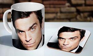 Robbie Williams Tea / Coffee Mug Coaster Gift Set