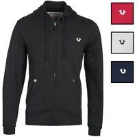 True Religion Men's Classic Logo Full Zip-Up Hoodie Sweatshirt