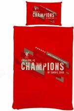 Liverpool FC Single Duvet Set - CHAMPIONS OF EUROPE Bedding Gift Set